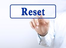 Press reset button Royalty Free Stock Images