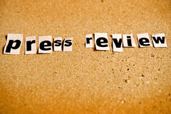 Press review Royalty Free Stock Photos