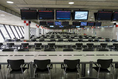 Press room at the Circuit de Catalunya Royalty Free Stock Photos