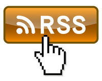 Press Rss feed button Royalty Free Stock Photography