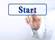 Press start button royalty free stock image