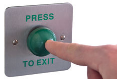 Press to exit Royalty Free Stock Photo