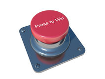 Press to Win. Isolated white Stock Image