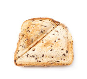 Press toasted sandwich isolated. Press toasted sandwich panini isolated over the white background stock photo