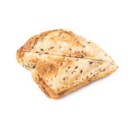 Press toasted sandwich isolated. Press toasted sandwich panini isolated over the white background stock photography
