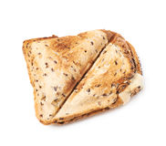 Press toasted sandwich. Panini over the white background stock photos