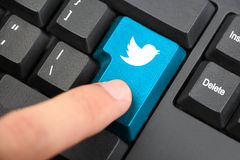 Press Twitter Keyboard Button Royalty Free Stock Photo