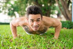 Press-up guy Stock Image