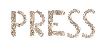 Press written with small cubes Stock Image