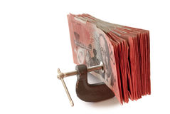Pressa dei soldi Fotografie Stock Libere da Diritti