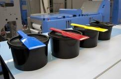 Pressa flexo/di stampa offset per i contrassegni Immagini Stock