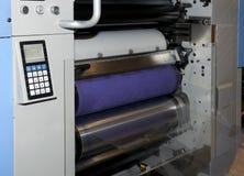 Pressa flexo/di stampa offset per i contrassegni (particolare) Fotografia Stock