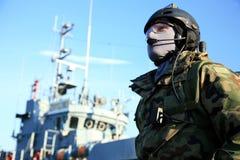 pressar den marin- specialen royaltyfria bilder