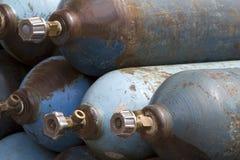 pressat samman cylinderläkarundersökningsyre Fotografering för Bildbyråer
