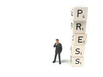 Presse photographie stock libre de droits