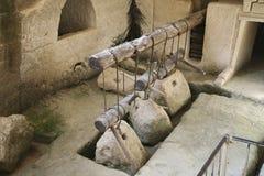 Presse antique d'huile d'olive, Beit Guvrin photos libres de droits