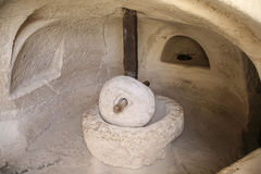 Presse antique d'huile d'olive, Beit Guvrin images libres de droits