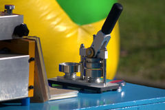 Presse de puzzle photo libre de droits