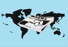 Presse du monde illustration stock