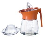 Presse-fruits en verre pour l'agrume avec le chapeau photographie stock