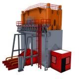 Presse hydraulique illustration stock