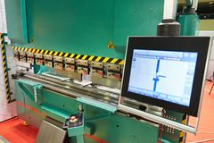 Presse hydraulique industrielle photographie stock