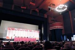 Presse-Konferenz des internationalen Film-Festivals Moskaus Lizenzfreies Stockfoto