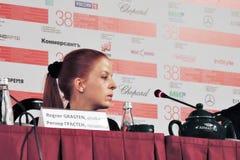 Presse-Konferenz von 37 siebenunddreißig Film Lizenzfreies Stockfoto
