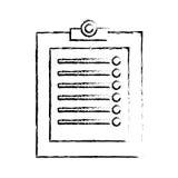presse-papiers avec la ligne de croquis d'image d'icône de liste de contrôle illustration libre de droits