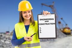 Presse-papiers d'apparence de constructeur avec la liste numérotée photo stock