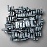 Presse typographique Photographie stock
