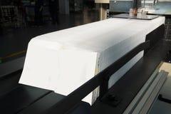 Presse typographique - machine pour les serviettes de papier Photo libre de droits