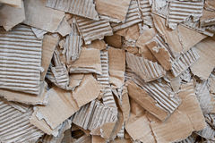 Pressed cardboard for recycling Royalty Free Stock Photography