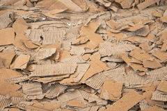 Pressed cardboard for recycling Royalty Free Stock Photo
