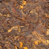 Pressed Chinese puer tea Royalty Free Stock Image