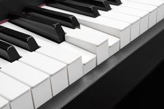Pressed chord. The pressed chord on piano keys Stock Photos