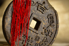 Pressed disc of tea with hieroglyphic. Pressed disc of tea with chinesse hieroglyphic Stock Images