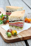 Pressed Italian Sandwiches Stock Photography