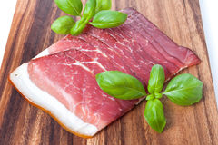 Pressed Meat with basil Royalty Free Stock Photos
