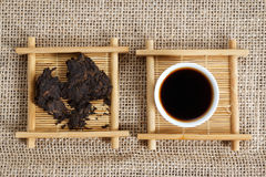 Pressed pieces Puer tea Royalty Free Stock Photos