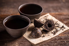 Pressed pu-erh tea Stock Image