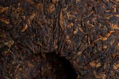 Pressed Puer tea ripe Chinese Stock Photo