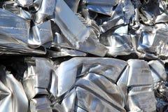 Pressed scrap aluminium. Royalty Free Stock Image