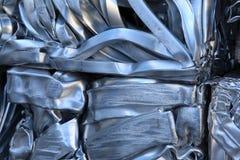 Pressed scrap aluminium. Royalty Free Stock Photos