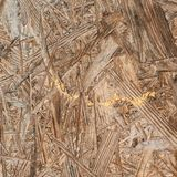 Pressed wood shavings fragment Royalty Free Stock Photography