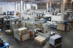Pressedrucken - Offsetmaschine lizenzfreies stockfoto