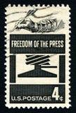 Pressefreiheit US-Briefmarke Stockfoto