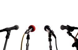 Pressekonferenz Stockfotos