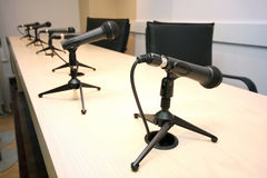 Pressekonferenz Lizenzfreies Stockbild