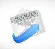Pressemitteilungs-E-Mail-Illustrationsdesign vektor abbildung